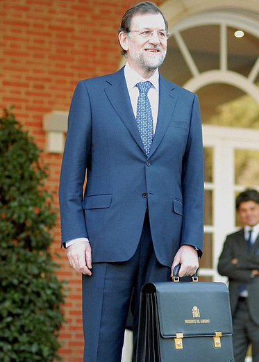 Llegada de Mariano Rajoy en La Moncloa 21/12/2011 El presidente del Gobierno, Mariano Rajoy, a su llegada a La Moncloa. Foto:© lamoncloa.gob.es