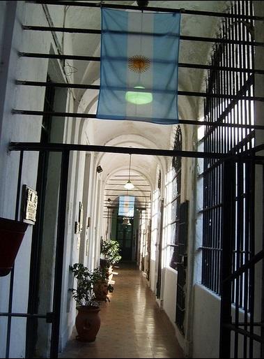 Bandera en la Cárcel, Buenos Aires, Argentina. Foto:  Edgar Zuniga Jr.