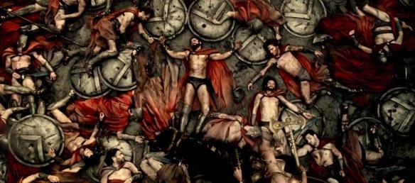 """""""Causará tu pérdida, mi padre, este miserable extranjero, si no te apresuras a expulsarlo de casa"""". Gorgo, mujer de Leónidas, a su padre.                                              """"Prefiero morir como un hombre libre, antes que como un esclavo... aunque la cadena me uniera a ti"""". Leónidas a Jerjes."""