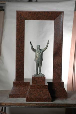 Maqueta original Monumento al Tte. Gral. Perón del Cro. Savio, que ganare el concurso nacional de la Secretaría de Cultura de la Nación,