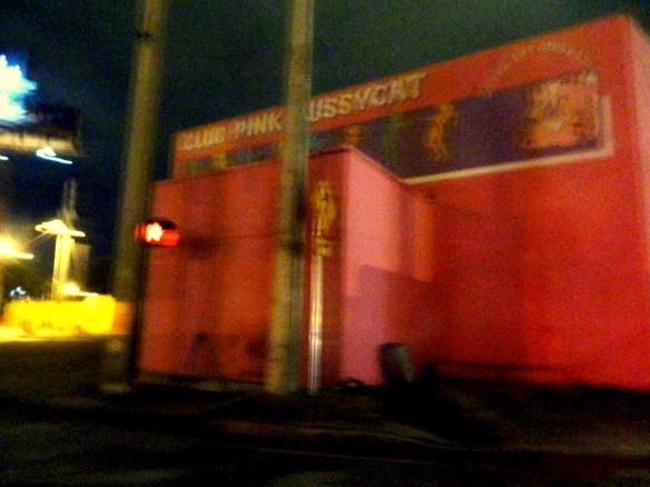Pink Pussycat Club, uno de los establecimientos de desnudistas para adultos solteros que tanto abundan en la ciudad de Miami. Foto: Carlos M. Estefanía