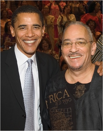 El Rev. Jeremiah Wright ,junto a Obama. Foto: Freedom United States