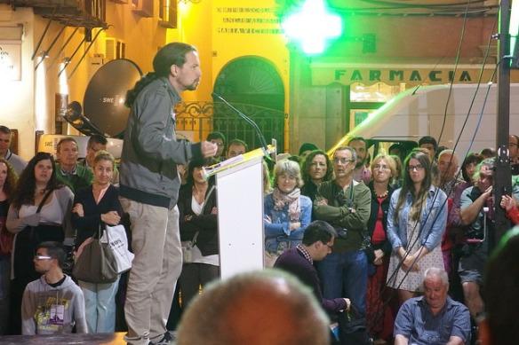 Mitin de PODEMOS en Málaga, foto tomada en Mayo de 2014 por  Cyberfrancis