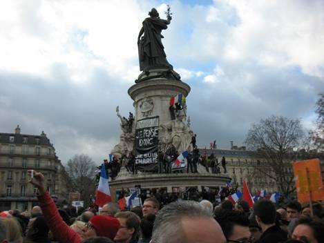 Plaza de la República de París. 11 de enero de 2015.