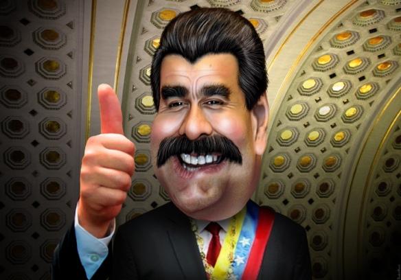 Nicolás Maduro - Caricatura de DonkeyHotey