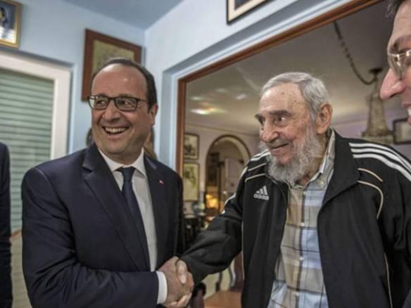 """""""Un gran momento histórico"""". François Hollande. La Habana."""