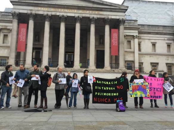 PROTESTA CONTRA KEIKO LONDRES 31 MAYO
